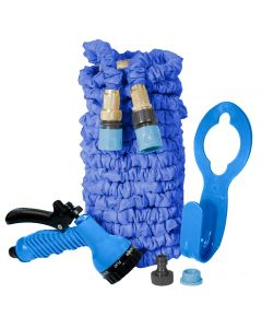 Blue Expanding Hercul-Easy Hose + FREE Hose Holder