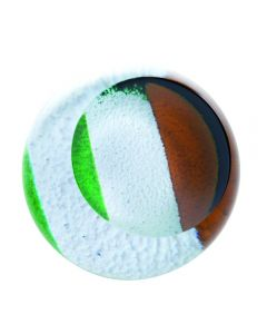 Caithness Irish Tricolour Paperweight