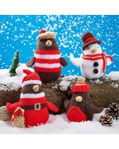 Christmas Robins - Santa, Pierre, Harry and Tommy