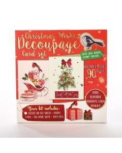 Christmas Wishes Decoupage Card Set