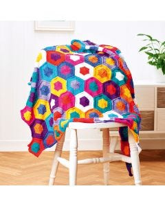 Fiesta Hexagon Blanket Complete Pattern