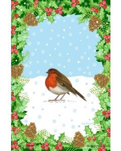 Holly & Robin Cotton Tea Towel