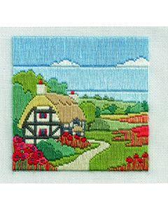 Poppy Cottage Long Stitch Kit