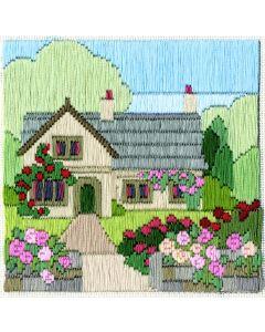 Rose Cottage Long Stitch Kit