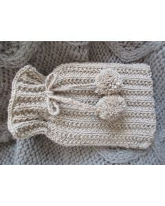 Rib and Pompom Hot Water Bottle Pattern