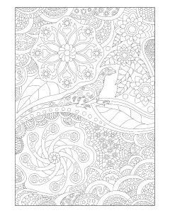 Patterned Lizard Colouring Page
