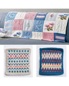 Debbie Bliss Primavera Blanket Pattern Part 1