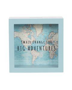 Vintage Map Big Adventures Money Box