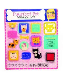 Dog & Cat Stamp and Embossing Set