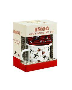 Beano Enamel Mug and Socks Gift Set