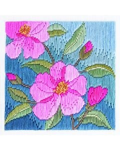 Camelias Long Stitch Picture Kit