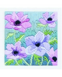 Anenomes Long Stitch Picture Kit