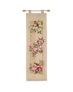 Birds & Blossoms Wallhanging Embroidery Counted Cross Stitch Kit