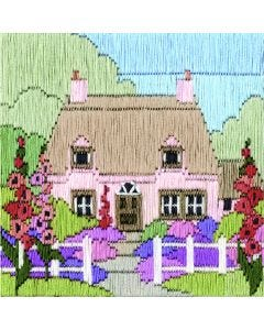 Hollyhock Cottage Long Stitch