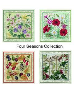 Four Counted Cross Stitch Panel Kits