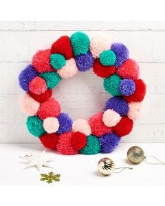 Christmas Pom-Pom Wreath