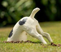 Digging Dog Garden Ornament Colour: Black Spots Digger the Dog