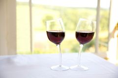 Pair of Wonky Wine Glasses (2 Glasses): Wine on a Slant!