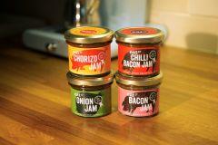 Eat 17 Jam Set of Four : Bacon Chilli Onion Chorizo