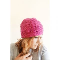 Beautiful Lace Work Beret Knitting Pattern