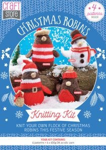 Christmas Robins Physical Knitting Pattern