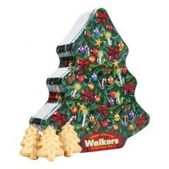 Walkers Christmas Tree Shaped Tin