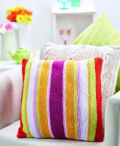 Colourful Cushion Knitting Pattern