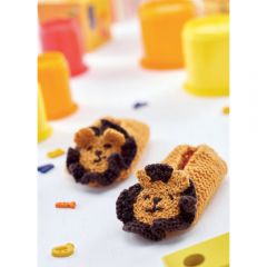 Comfy Lion Slippers Knitting Pattern