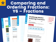 Comparing and Ordering Fractions: Y6 – Fractions – Maths Challenge