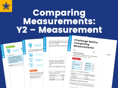 Comparing Measurements: Y2 – Measurement – Maths Challenge Mat