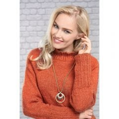 Copper High Neck Sweater Knitting Pattern