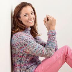 Cosy Bouclé Sweater Knitting Pattern