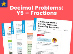 Decimal Problems: Y5 – Fractions – Maths Challenge