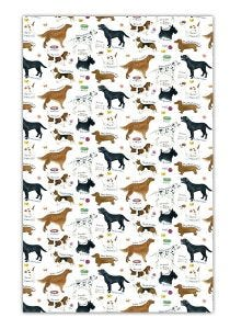 Dog Breeds Cotton Tea Towel