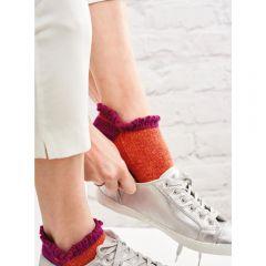 Easy Frill Trainer Socks Knitting Pattern
