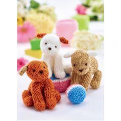 Easy Puppy Trio Knitting Pattern