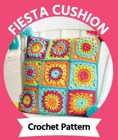 Fiesta Cushion Physical Crochet Pattern