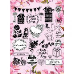Floral Backer Stamps