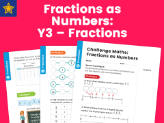 Fractions as Numbers Year Three Maths Challenge
