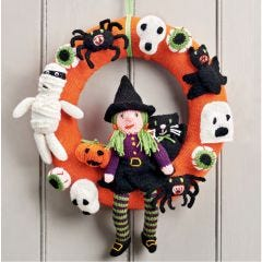 Halloween Wreath Knitting Pattern