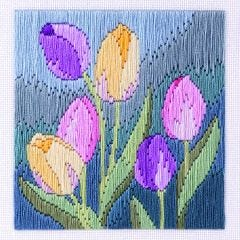Tulips Long Stitch Picture Kit