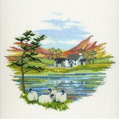 Lakeside Farm Counted Cross-Stitch Kit
