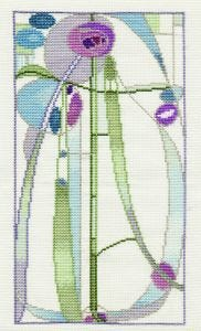 Mackintosh Rose Boudoir Counted Cross Stitch Kit