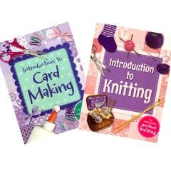 Introduction to Knitting and Introduction to Card Making Book Bundle