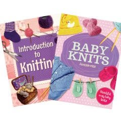 Introduction to Knitting and Baby Knits Accessories Book Bundle