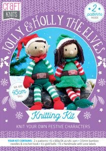Jolly and Holly the Elves Physical Knitting Pattern