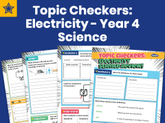Topic Checkers: Electricity - Year 4 Science Assessment Worksheets
