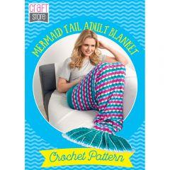 Mermaid Tail Adult Blanket Physical Crochet Pattern