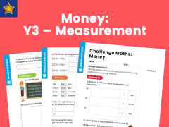 Money Year Three Measurement Maths Challenge
