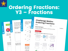 Ordering Fractions Year Three Fractions Maths Challenge